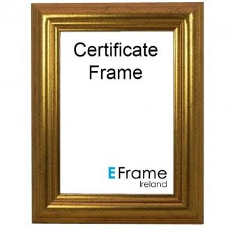 Certificate Frame A4 Gold