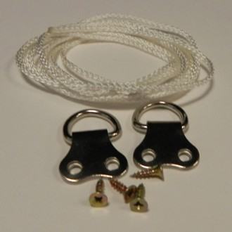 D-rings Double Hole (x2) & 1 Mtr cord