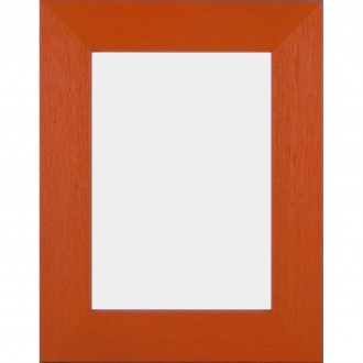 Solid Wood Scratched Grain Picture Frame Orange