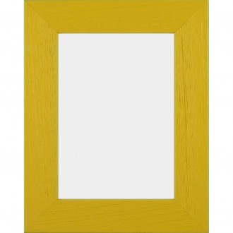 Solid Wood Scratched Grain Picture Frame Yellow