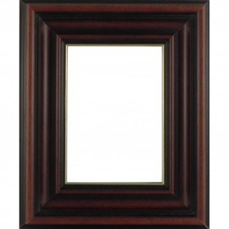 Picture Frame Dome Brown Gold Line