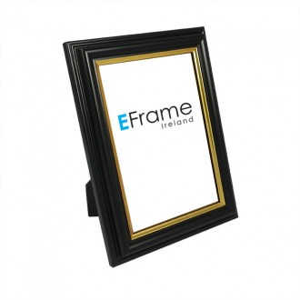 Photo Frame - Black Gold Line