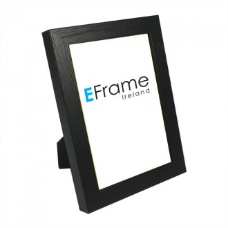 Photo Frame Black Open Grain
