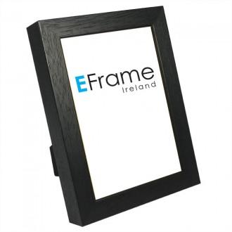Photo Frame Black Open Grain