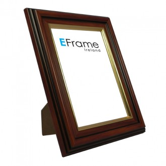Photo Frame Brown Gold Line - economy range
